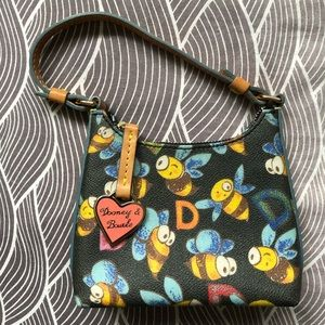 Authentic Dooney and Bourke Bumble Bee Mini Bag.
